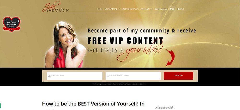 Blog page banner design