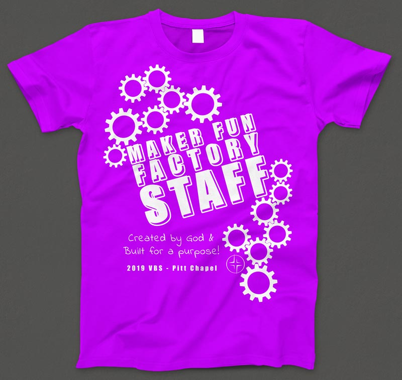 VBS T-shirt mock-up ready for print