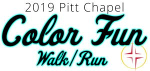 Church color fun run 5k logo for tshirts and banners